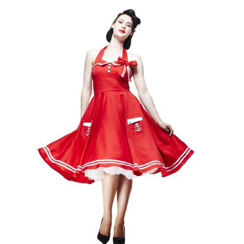 Hell Bunny MOTLEY 50'S DRESS red S