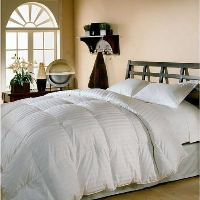 Queen Size White Goose Down Comforter 300 Thread Count 600 Fill Power By Sheetsnthings