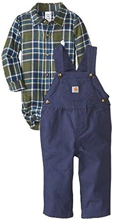 Amazon Carhartt Baby Boys Plaid Canvas Bib Overall