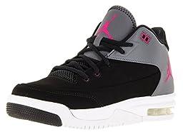 Nike Jordan Kids Jordan Flight Origin 3 Gg Black/Vivid Pink/Drk Gry/White Basketball Shoe 6 Kids US