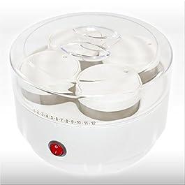 Joghurtbereiter 'YOGURT MAKER 215' mit Portionsgläser - Joghurtgerät für Naturjoghurt und Co.: Der energiesparende Joghurtmaker für selbstgemachten Fruchtjoghurt und vieles mehr!