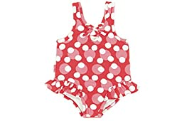 Le Top Love Always Girl\'s Dot Swimsuit with Hip Flip (12 Month)