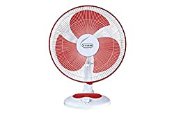 V-Guard Finesta 400mm Table Fan (Red White)