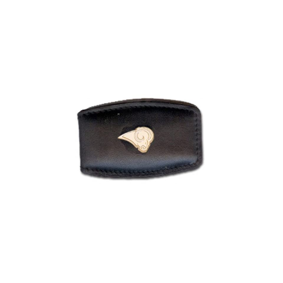 St. Louis Rams Gold Plated Leather Money Clip