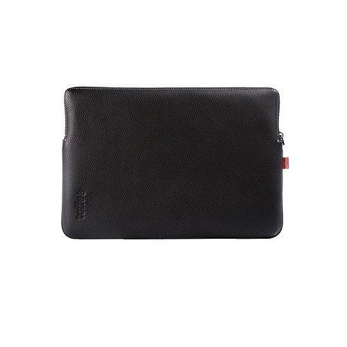 Toffee MacBook / Pro 13.3 inch Leather Sleeve - Black