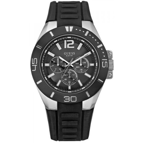 Guess Men's Sporty Analogue Watch W12597G1 with Multidial Rubber Strap