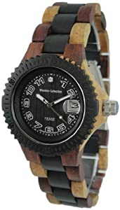Tense Inlaid Varied Wood Discovery Compass Mens Watch G4100ID ANDF from Tense