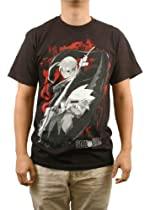 Soul Eater Maka and Soul Splatter Mens T-Shirt, Black (L)