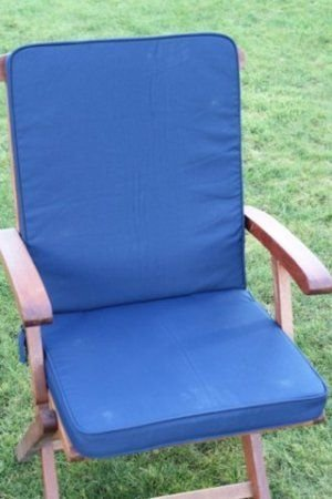 UK-Gardens Navy Blau Garten Möbel Sitz und stuhl Polsterung - Wechselbarer Bezug - Nutzung in Haus oder Garten