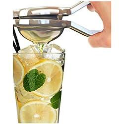 Lemon Squeezer--Spremiagrumi in acciaio inossidabile, Spremilimone manuale, resistente, Anti-Spremiagrumi manuale Juiceron Anti corrosione, colore: verde Lime argento