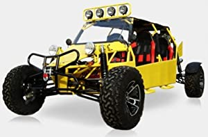 BMS Sand Sniper 1000 YELLOW Gas 4 Cylinder 4 Seat Dune Buggy Go Kart