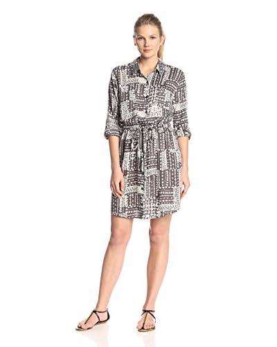 Velvet by Graham & Spencer Women's Printed Challis Shirt Dress