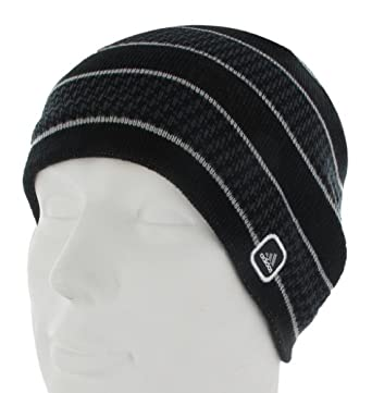 adidas Men's Drift Reversible Beanie Hat, Black/Mercury Grey, One Size