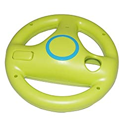 Imported Steering Wheel For Wii Mario Kart Racing Game Remote Controller - Green