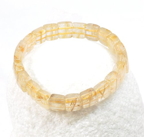 Square Hair Crystal Bracelet