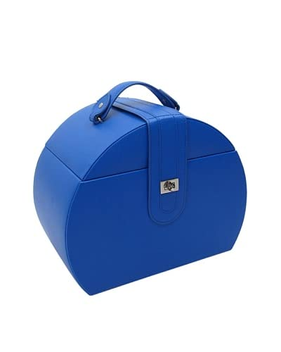 Morelle & Co. Diana Leather Purse Jewelry Box with Takeaway Case, Dazzling Blue
