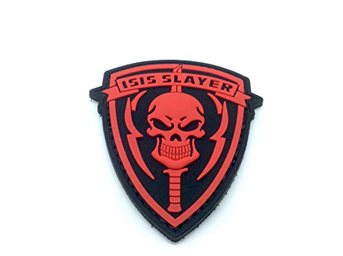 ISIS Slayer Teschio Rosso Velcro Patch PVC Toppa