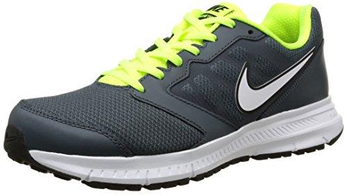 Nike Downshifter 6 - Zapatillas de running para hombre, color gris / blanco / verde, talla 41