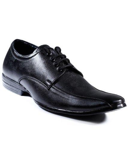 ZAPATOZ Black Diplomat Lace Up Formals Shoes