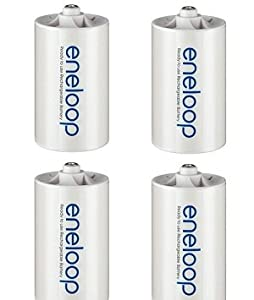 Eneloop Sanyo NCS-TG-D Adapter (AA (Mignon) auf Mono D, 4er Pack)