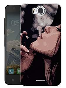 "Inhale Exhale Printed Designer Mobile Back Cover For ""Google Infocus M530"" By Humor Gang (3D, Matte Finish, Premium Quality, Protective Snap On Slim Hard Phone Case, Multi Color)"