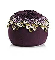 Layered Appliqué Petals Bean Bag