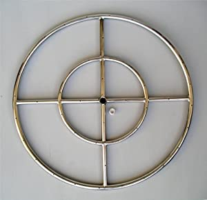 """Amazon.com: Fire Pit Ring, 24"""" Diameter Stainless Steel ..."""