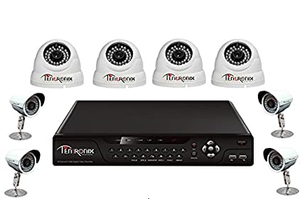 Tentronix-T-8CH-8-DB9-8Channel-DVR-+-4-Dome-+-4-Bullet-CCTV-Cameras