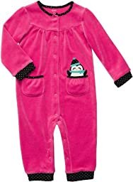 Carter\'s Infant Long Sleeve One Piece Velour Coverall - Happy Penguin-18 Months