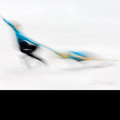 20X30 Inch Decorative Poster Blurred Action of Pairs Figure Skaters,Torino,Italy Photographic Print by Chris Trotman
