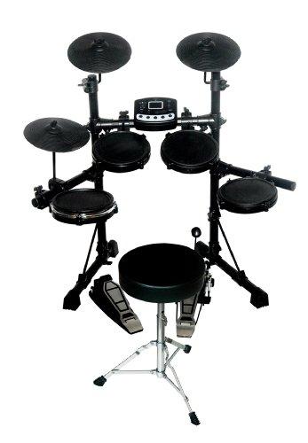 Kaysound Adagio Kd-10 Digital Drum Set With Throne - Black