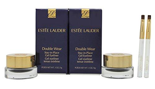 Estée Lauder Double Wear Stay-in-Place Gel Eyeliner Duo Set 2 x Vasetti Neri