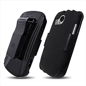 Beyond ZTE A415 3-In-1 Screen Guard Holster Case Combo with Kickstand - Non-Retail Packaging - Black