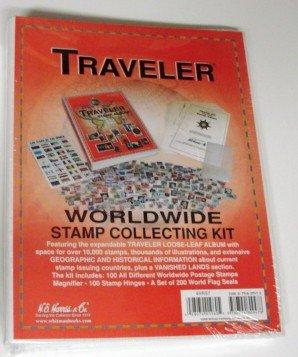 Traveler World Wide Stamp Collecting Kit