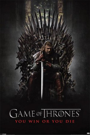 Game of Thrones - Poster You win or you die (in 61 cm x 91,5 cm)