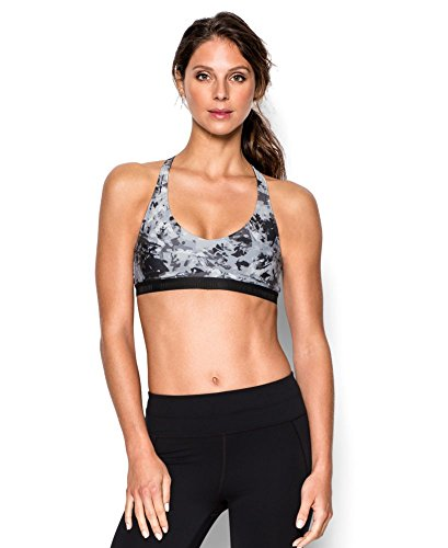 Under Armour Women's Low Printed Bra, Black (005), Large
