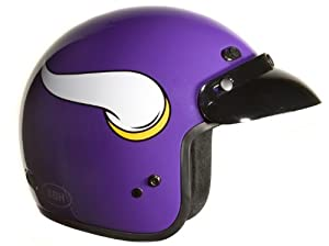 Brogies Bikewear NFL Minnesota Vikings Motorcycle Three Quarter Helmet (Purple,... by Brogies Bikewear
