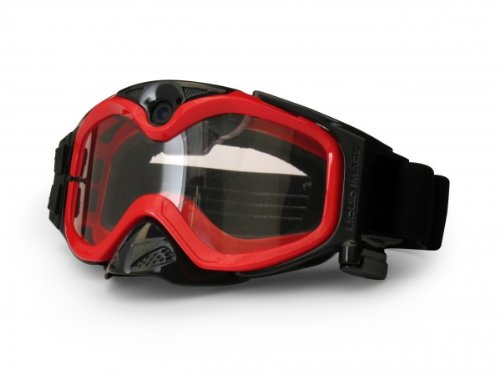The Liquid Image XSC Impact Series HD 365R MX Goggle with Integrated True POV HD Video Camera with 1.5x Optical Zoom and 1-Inch LCD Screen - Red