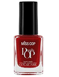 Miss Cop Vernis à Ongles Pop Nails Rouge Franc 12 ml - Lot de 2