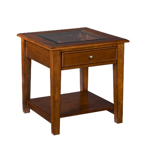 Southern Enterprises Valley End Table, Walnut front-966038