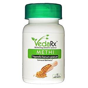 Vedarx -METHI(Trigonella foenum graecum/ Fenugreek) Vegetarian Capsules, 500mg