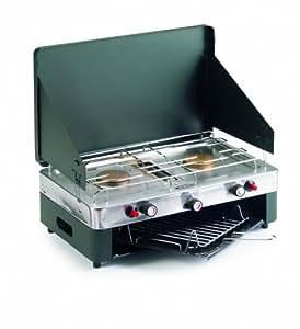 Gelert Gas062 Double Burner/Grill/Lid/Piezo Dove