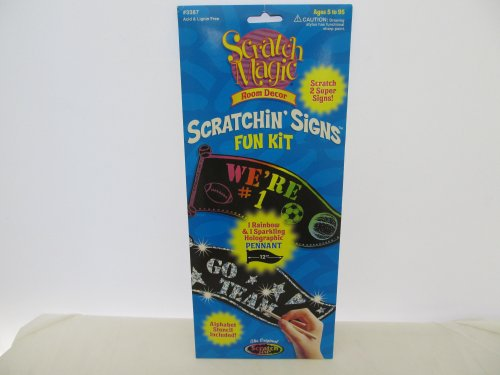 Scratch Magic Sratchin' Signs Room Decor
