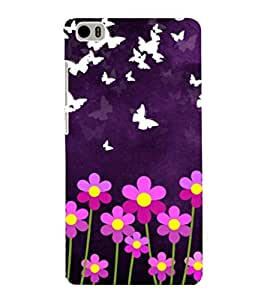 printtech Butterfly Flowers Back Case Cover for Xiaomi Redmi Mi5::Xiaomi Mi 5