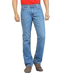 Aliep Blue 100% Cotton Regular Fit Jeans For Men | ALPJS25