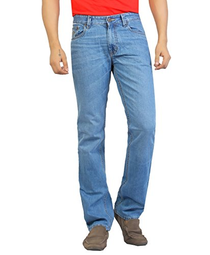 Aliep Aliep Blue 100% Cotton Regular Fit Jeans For Men | ALPJS25 (Multicolor)