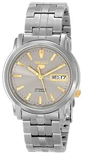 """Seiko Men's SNKK67 """"Seiko 5"""" Grey Dial Stainless Steel Automatic Watch"""
