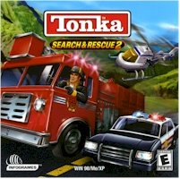 New Infogrames Tonka Search Rescue 2 Fire Police Mountain Water Rescue 13 Cool Vehicles Equipment