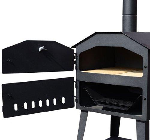 <p>Horno de acero para cocinar pizzas. combstible: le&ntilde;a o carb&oacute;n</p>