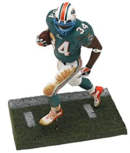 Ricky Williams 2nd Edition #34 Miami Dolphins Green Jersey Blue Teal Face Mask Color McFarlane NFL Six Inch Action Figure